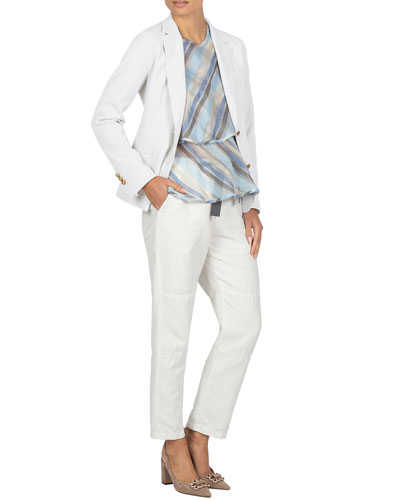 Stretch-Cotton Blazer Jacket and Matching Items