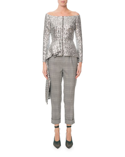 Horley Slim-Leg Checkered Crop Pants and Matching Items