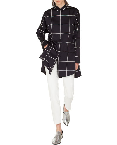 Checkered Button-Front Tunic and Matching Items