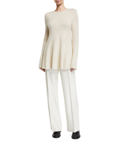 Sabel Wool-Cashmere Crewneck Sweater and Matching Items