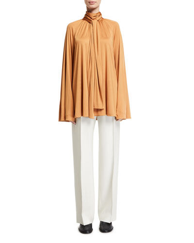 Merrian Twisted-Neck Charmeuse Blouse and Matching Items