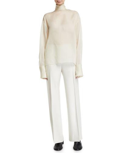 Karlee Silk Chiffon Turtleneck Blouse and Matching Items