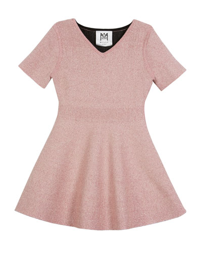 Metallic Double-Knit Dress, Size 8-14  and Matching Items