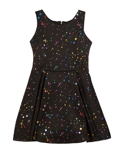 Foil Splatter Knit Swing Dress, Size 7-16  and Matching Items
