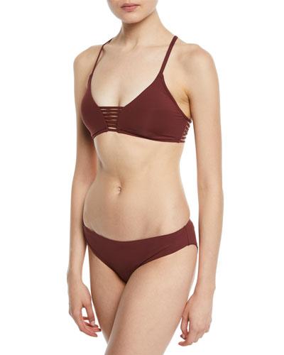 Rouleau Strappy Bikini Swim Top and Matching Items
