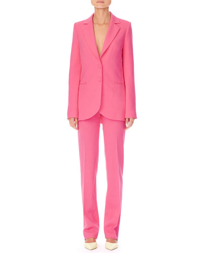 Notched-Lapels Two-Button Stretch-Wool Jacket  and Matching Items