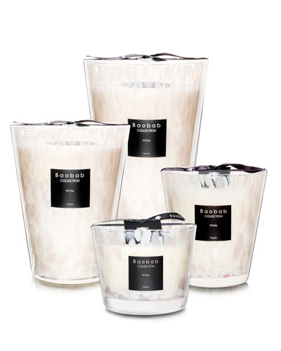 Maxi Max White Pearls Scented Candle, 13.8