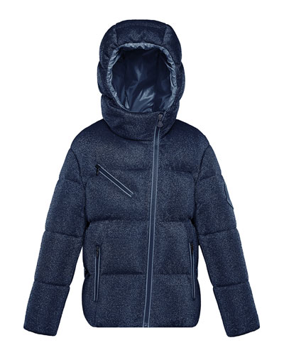 Taurua Metallic Asymmetric-Zip Quilted Jacket, Size 4-6  and Matching Items