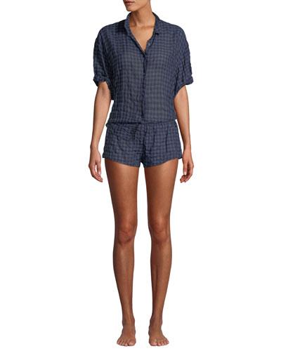Shyla Plaid Poplin Lounge Shorts and Matching Items