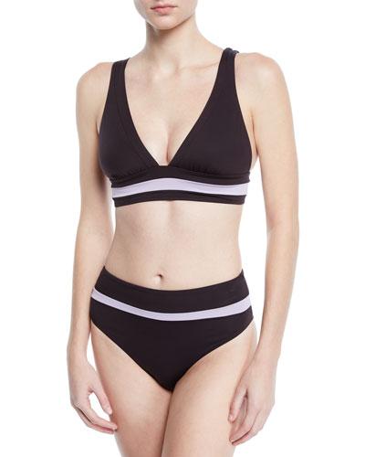 Amulet Striped Triangle Bikini Top and Matching Items