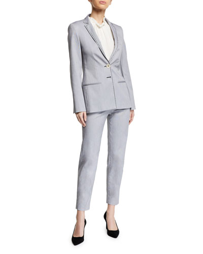 Monia Long Side-Zip Capris  and Matching Items