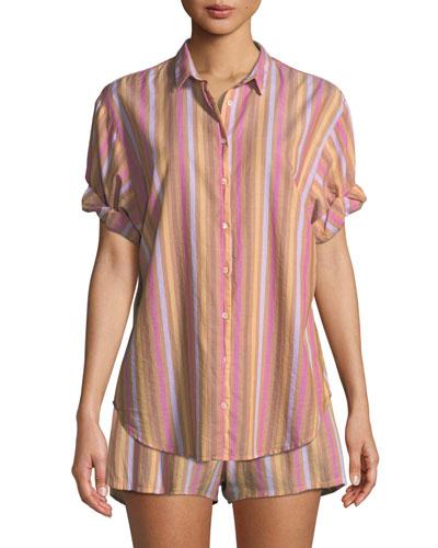 Shyla Striped Poplin Shorts and Matching Items