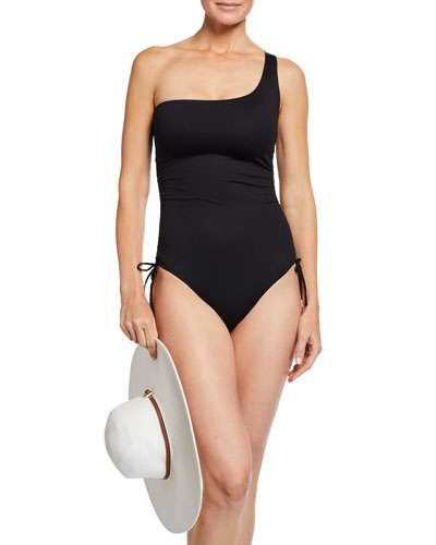 Polynesia One-Shoulder Ruched One-Piece Swimsuit and Matching Items