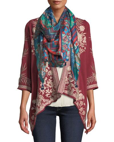 Otis Othilia Embroidered Drape Cardigan, Plus Size and Matching Items
