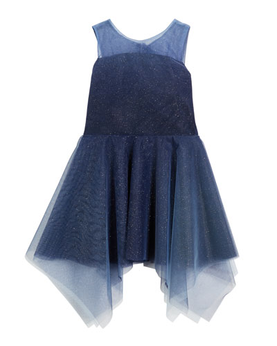 Ombre Shimmer Tulle Sleeveless Dress, Size 4-6X and Matching Items