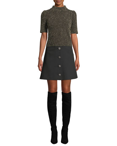 textured metallic knit sweater and Matching Items