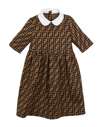 FF Jacquard Peter Pan-Collar Dress, Size 3-5  and Matching Items