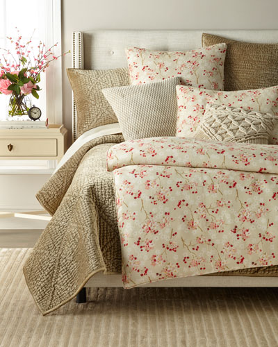 Cherry Blossom Linen Twin Duvet Cover  and Matching Items