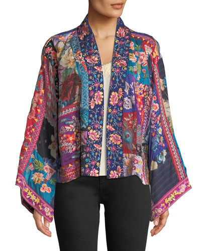Adley Embroidered Linen Kimono  and Matching Items