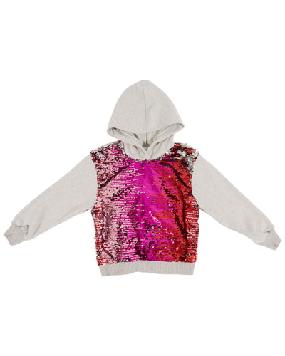 Sequin-Front Hoodie, Size 4-6  and Matching Items