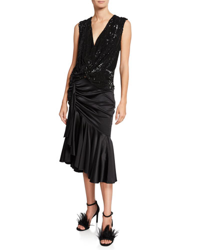 Bette Sleeveless Blouse With Sequin Detail and Matching Items