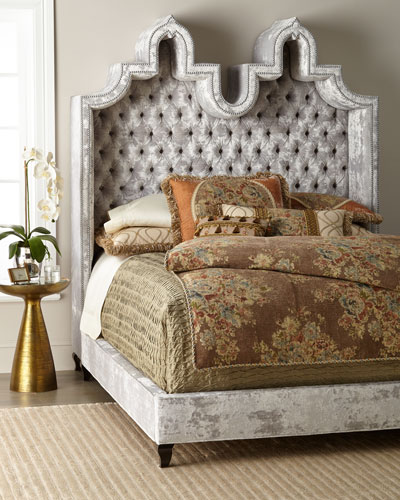 Carolina Hooded Queen Bed  and Matching Items