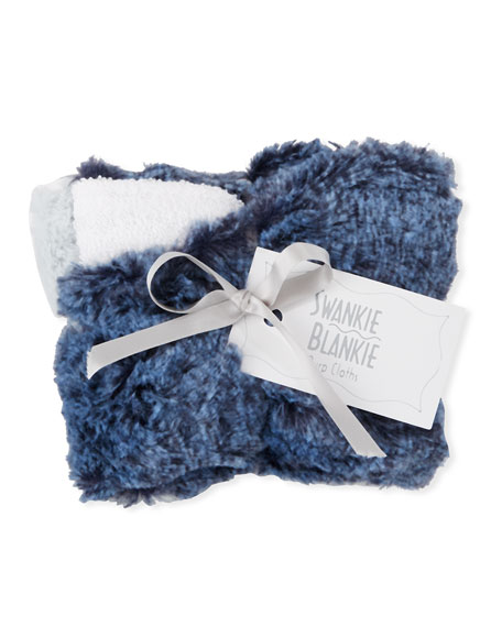 Swankie Blankie Riley Receiving Blanket, Blue