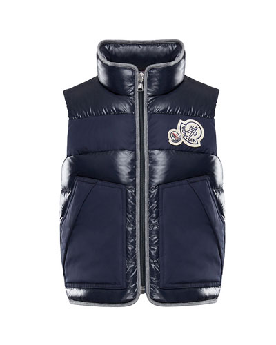 Gomont Mixed Materials Vest w/ Double Logo Patch, Size 4-6  and Matching Items