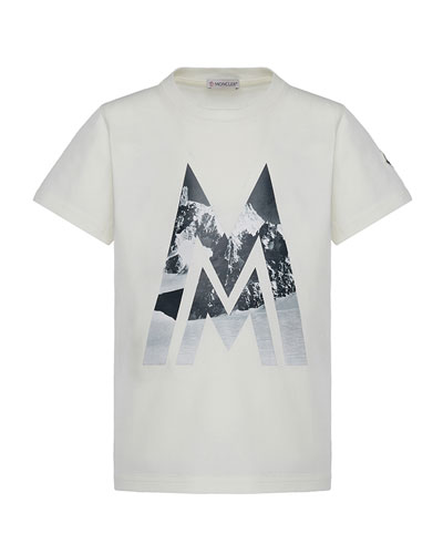 Short-Sleeve Knit Mountains & Logo Graphic T-Shirt, Size 4-6  and Matching Items
