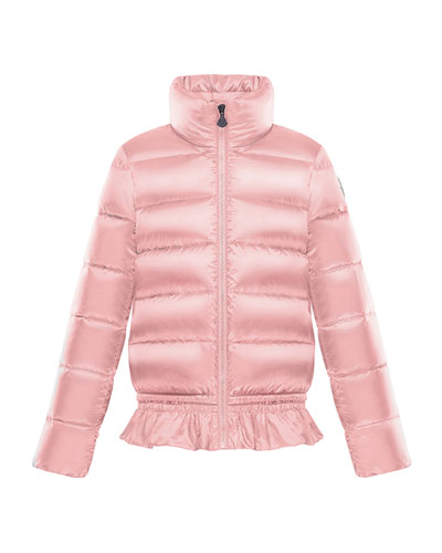 Anemonet Ruffle-Hem Quilted Puffer Jacket, Size 4-6  and Matching Items