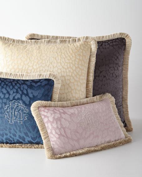 """Monogram Velvet Pillow, 24""""Sq."""
