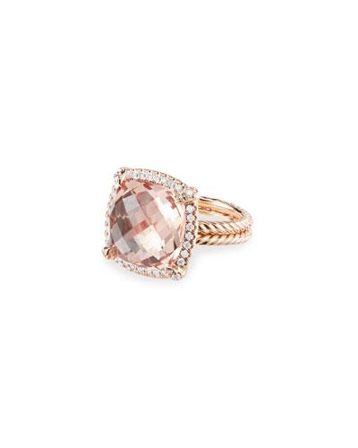 Chatelaine 18k Rose Gold 14mm Morganite Rings