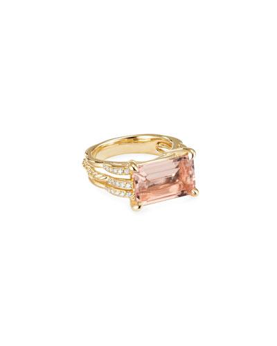 Tides 18k Gold Diamond & Morganite Rings