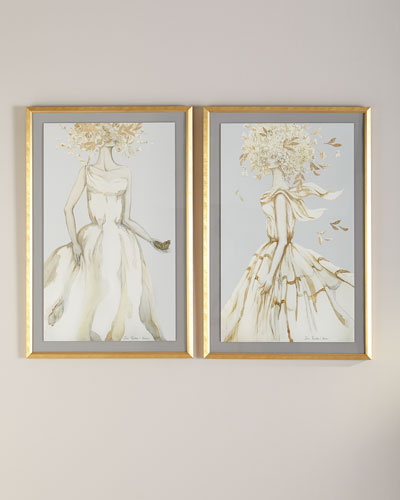 Golden Femme I Wall Art by Zana Brown  and Matching Items
