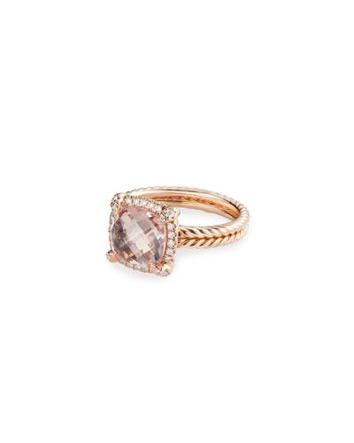 Chatelaine 18k Rose Gold Morganite Rings
