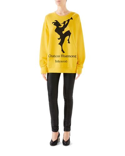 Oversized Printed Heavy Felt Sweatshirt and Matching Items