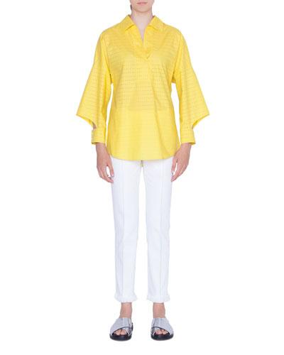 Cotton Laser-Cut Kimono Blouse and Matching Items