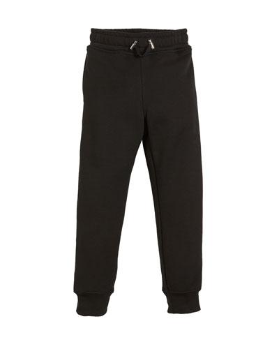 Logo-Sides Cotton Sweatpants, Size 4-10  and Matching Items