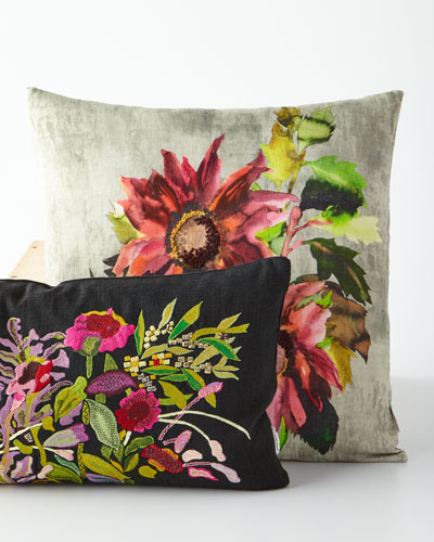 Indian Sunflower Grande Berry Pillow  and Matching Items