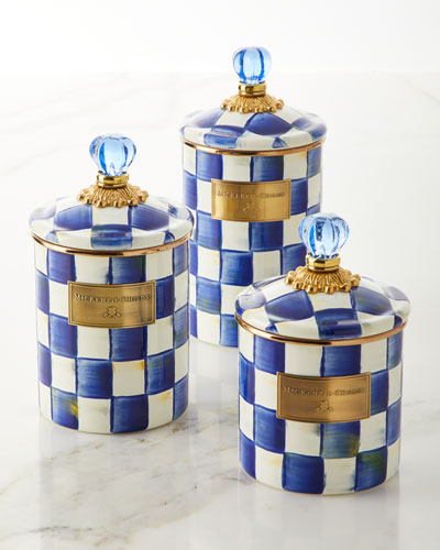 Royal Check Small Canister  and Matching Items