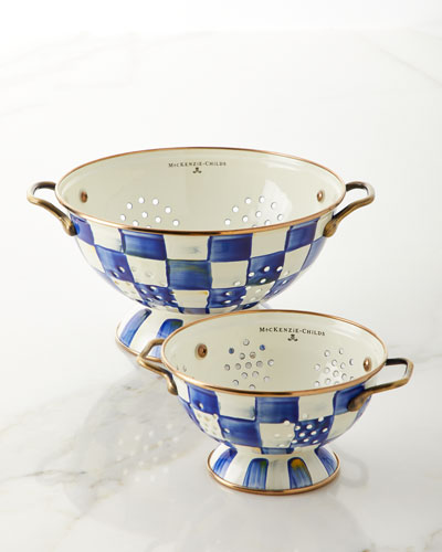Royal Check Large Colander  and Matching Items