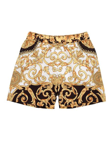Versace Boys' Barocco Print Swim Shorts, Size 8-10