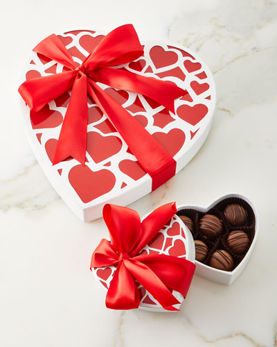 Be My Valentine 6-Piece Assorted Truffle Combo  and Matching Items
