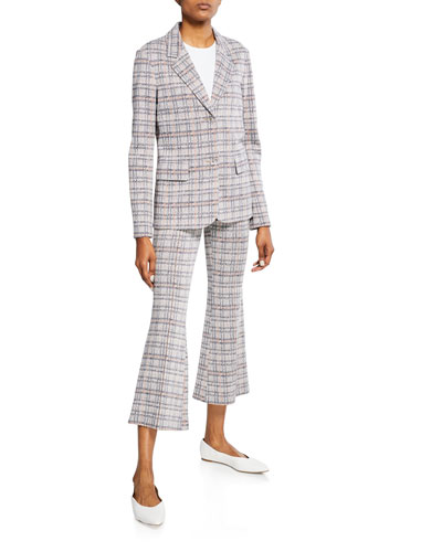 Plaid Jersey Fitted Jacket and Matching Items