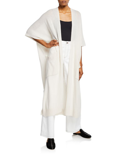 Asymmetric Wool-Cashmere Duster Cardigan and Matching Items