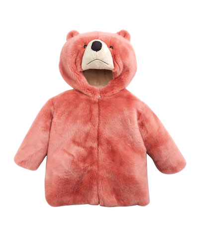 Rosa Faux-Fur Teddy Bear Hooded Coat, Size 2-6 and Matching Items