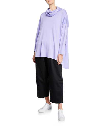 Long-Sleeve Cowl-Neck Monk's Top T-Shirt and Matching Items