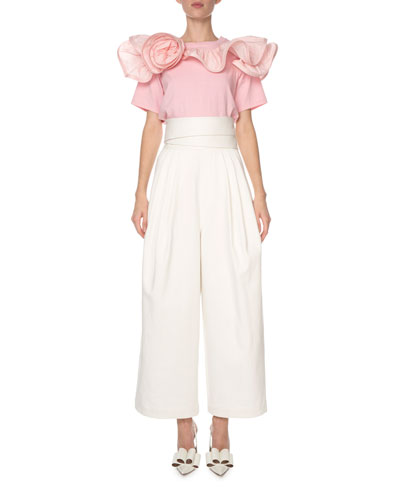 Short-Sleeve Ruffled-Rosette T-Shirt and Matching Items