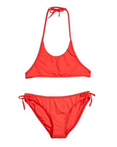 Two-Piece Halter Bikini, Size 4-6  and Matching Items