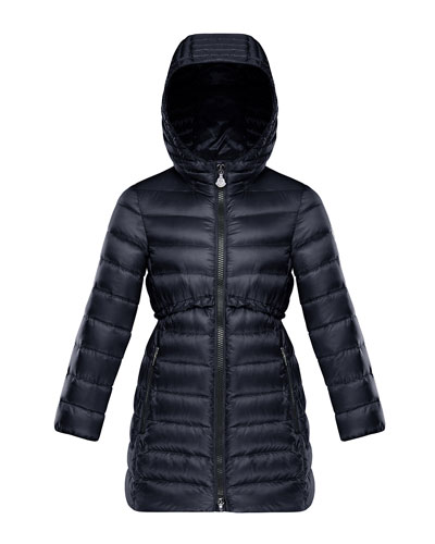 Quilted Ruffle-Trim Hooded Jacket  Size 4-6  and Matching Items